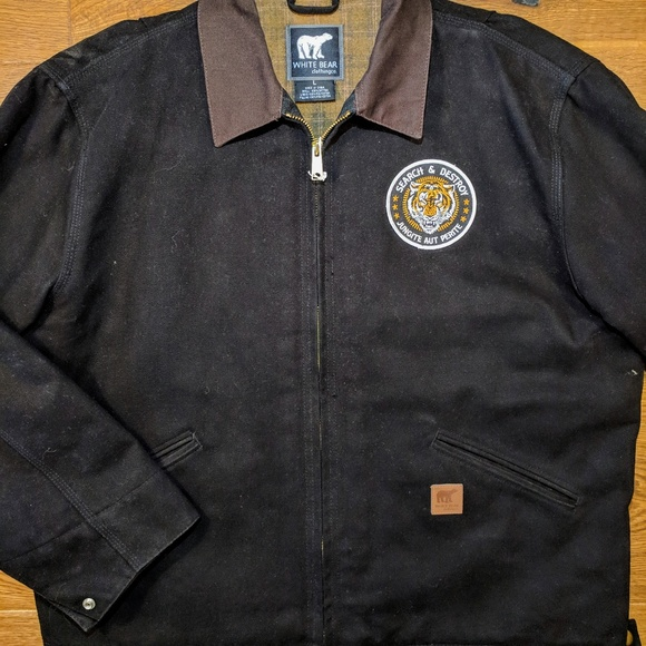 56f0cfe3e703a White Bear Jackets & Coats   Work Jacket X Search And Destroy Patch ...